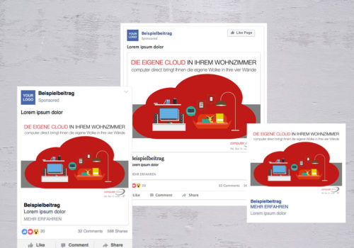 Social Media Computer Direct Thema Cloud