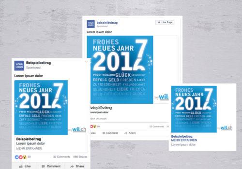 Social Media MyWil.ch Neujahr