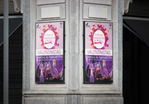 Plakate Oxe Gossau Valentinstag