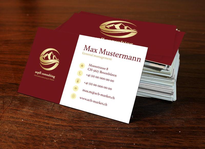 Visitenkarten Design Druck Hinterlassen Sie Einen