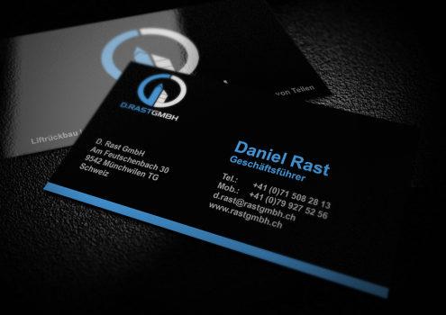 Visitenkarten Rast GmbH (dunkle Variante)