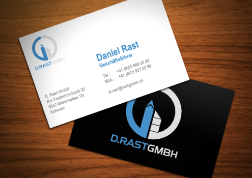Visitenkarten Rast GmbH (helle Variante)