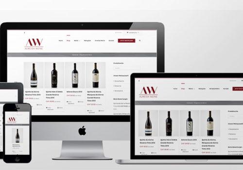 Webdesign Onlineshop Almeida Weine Shop