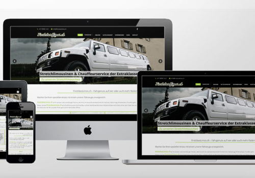 Webdesign FirstclassLimos.ch Home