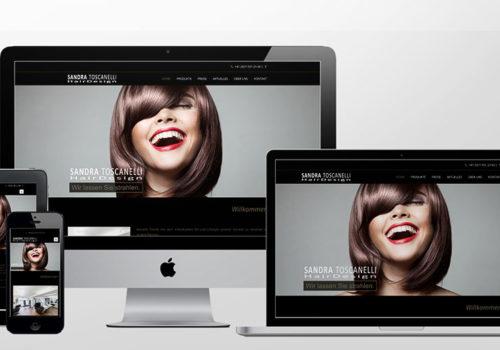 Webdesign Sandra Toscanelli Hairdesign Home