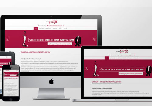 Webdesign Schneideratelier Giorgio