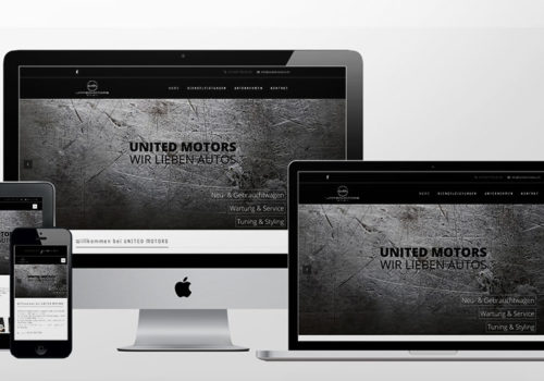 Webdesign United Motors