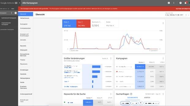 Neues Google Adwords Interface Übersicht